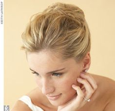 Grecian-style updo.