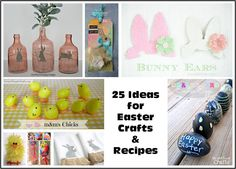 Lots of #easter inspiration in this collection of crafts and recipes. #eastercrafts #easterrecipes
