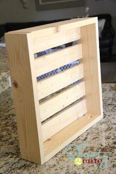 DIY Crate shelves for under $5.