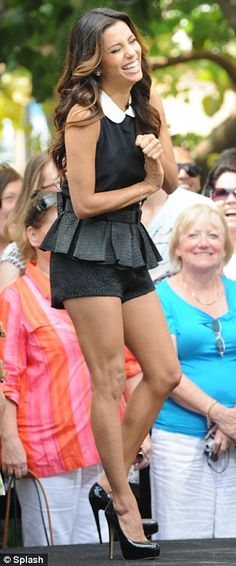 Eva Longoria-- if I had the legs I would wear this outfit.