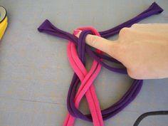 tshirt knot headband  #diy
