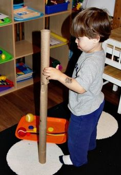 Paper Towel Tube Exploration ~ Tot Tray {36 months}