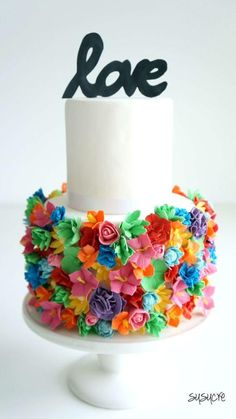 Colorful Flowers Cake