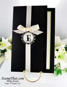 handmade wedding invitations ideas | Stampin' Up! Handmade Wedding Invitation with Coordinationg Response ...