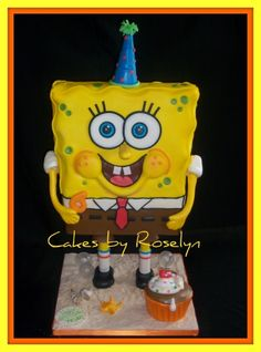 sponge bob square pants By shelly-101 on CakeCentral.com