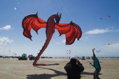 The International Kite Flying Festival  on the island of Fanø, off the coast of Jutland, Denmark