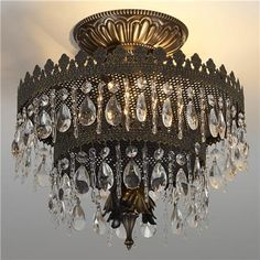 Glamorous two-tier Crystal Crown Chandelier