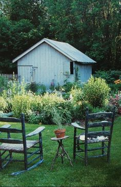 ...loved those evenings after supper to sit out by the shed and watch the garden grow...