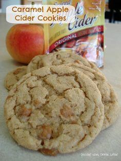 Caramel Apple Cider Cookies - Dessert Now, Dinner Later!