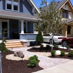 Grassless front yard