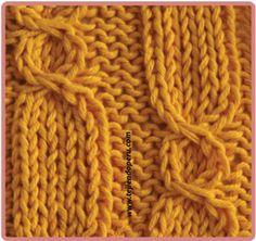debo intentar, dos aguja, de tricot, tejido dos