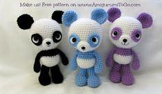 free pattern, panda amigurumi, crochet patterns, panda bear