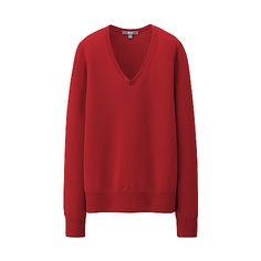 WOMEN Extra Fine Merino V Neck Sweater