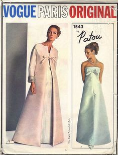 1960s Vogue Paris Original Designer Patou by AdeleBeeAnnPatterns, $85.00