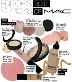 The Best of MAC! Such a good list to have! - Click image to find more Hair & Beauty Pinterest pins