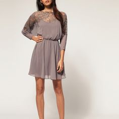 Fab lace detail dress! Want <3!