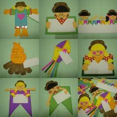 Convite de Festa Junina coloridos