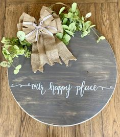 Farmhouse Door - Wall Decor - Round Plaque – The Rustic Peach