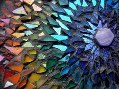 Rainbow Mandala Mosaic by Margaret Almon