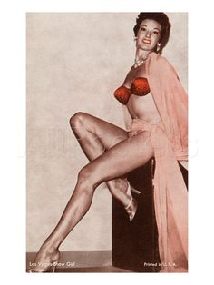 Las Vegas Showgirl Vintage 1950s Pin-Up