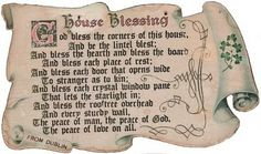 souvenir from dublin. House Blessing