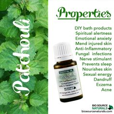Patchouli essential oil properties #aromatherapy