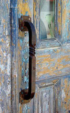 doors, blue blue, doorway, colors, beauti colour, peaches, blues, beauti color, door handles