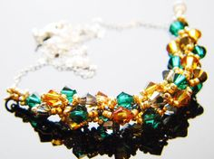 The Avengers Loki Inspired Crystal Necklace by WhimsyBeading, $35.00....it will be mine.