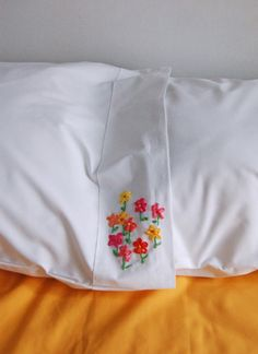 DIY Ribbon Embroidery Pillows - the purl bee