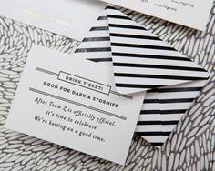 mini striped envelope