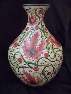 RARE Italian Antique Sgraffito Technique Slipware Pottery Vase Pot Signed | eBay