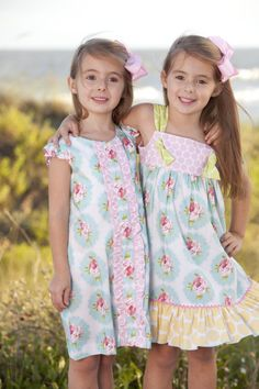 girls rosie ruffle front dress and rosie knot dress