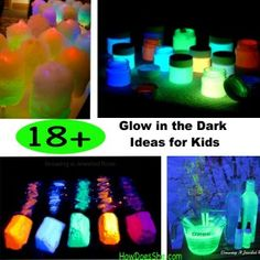 18 Glow in the Dark Ideas for Kids #howdoesshe #familytime #funwithkids howdoesshe.com