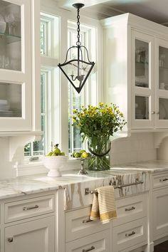 White on white kitchen cabinets