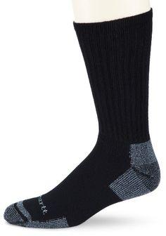 Carhartt Men's Cotton 3 Pack Crew Work Socks, Black, Medium Carhartt,http://www.amazon.com/dp/B0051U15V2/ref=cm_sw_r_pi_dp_NFZntb0EH0B6F84X