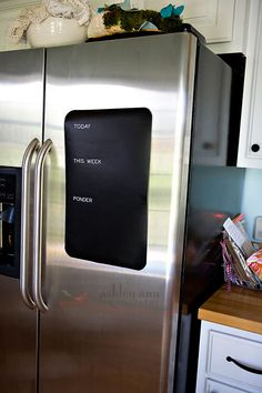 DIY - Chalkboard Vinyl Refrigerator To Do List Step-by-Step Tutorial.