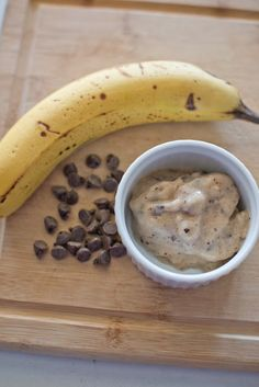Banana {Almost} Frozen Yogurt Recipe