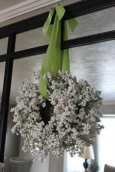 decor, store white, berri wreath, idea, dollar store, white berri, christma, wreaths, berries