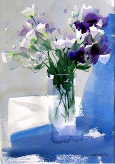 Zhao Zhiqang; watercolor.