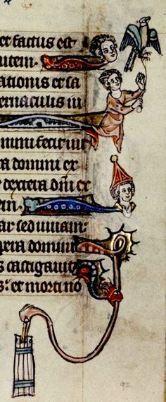 Margin. detail. Flemish c. 1320-30. Psalter