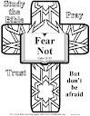 Bible coloring pages about fear