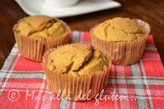 Más allá del gluten...: Muffins de Calabaza / Ahuyama (Receta GFCFSF, Vegana)