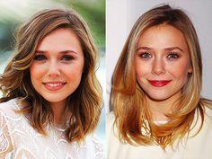 Elizabeth Olsen's collar bone length cut.