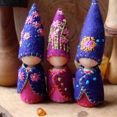 Indian Summer August Flower Gnome Waldorf by paintingpixie on Etsy, $27.00