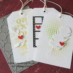 valentine - Poppy Stamps die & stencils