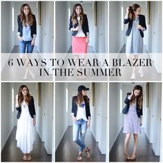 If you want to look summery and chic, don't take your blazer out of rotation just yet!