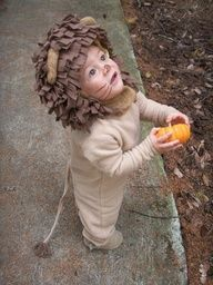 "Child's lion costume tutorial. Let's just say now I would probably be weeping from ""cuteness"" emotions all day."