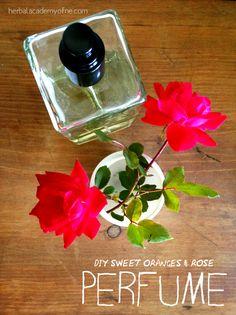 DIY sweet oranges and rose perfume