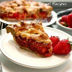 strawberry rhubarb pie Recipes Delicious Delicious
