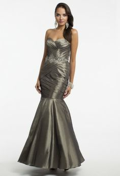 Pleated Stretch Dress with Beaded Waist from Camille La Vie and Group USA